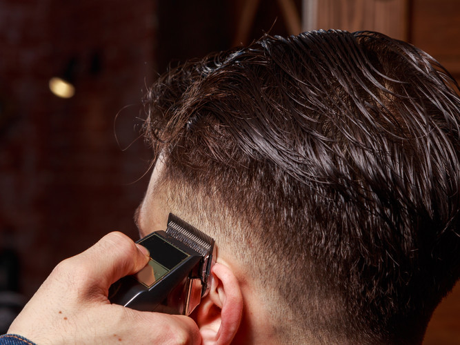 Cleaning head Barbershop. Cleaning head