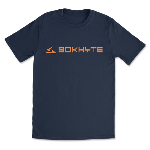 Sokhyte Text Tee Classic fit Navy
