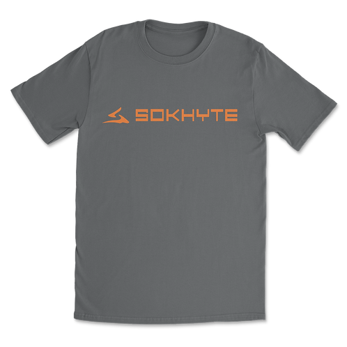 Sokhyte Text Tee Classic fit Charcoal