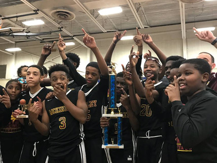 McKinley Middle wins the Parish Basketball Championship with a last second shot as clock expires!