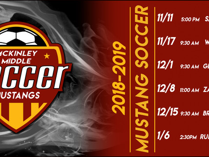 MMAM Mustang Soccer Schedule is out!