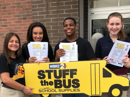 """McKinley Middle Participates in """"Stuff The  Bus"""""""