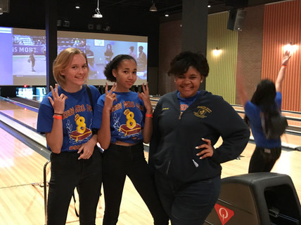 8th Grade celebrates a great year with bowling, games, and movies!