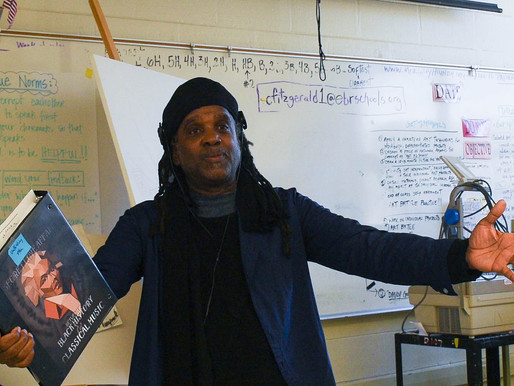Red Stick Project and Grammy winner Roy Wooten work with students at McKinley High