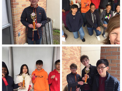 McKinley Students win at CHS 18th annual math tournament!