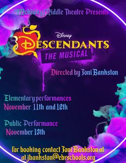 descendants flyer new dates