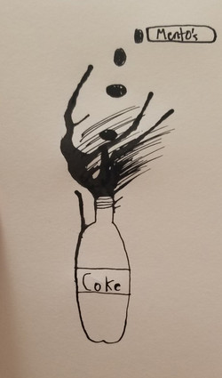 mentos and coke