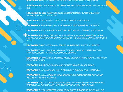 EBR TALENTED PROGRAMS HAVE A FULL SLATE OF UPCOMING PERFORMANCES!
