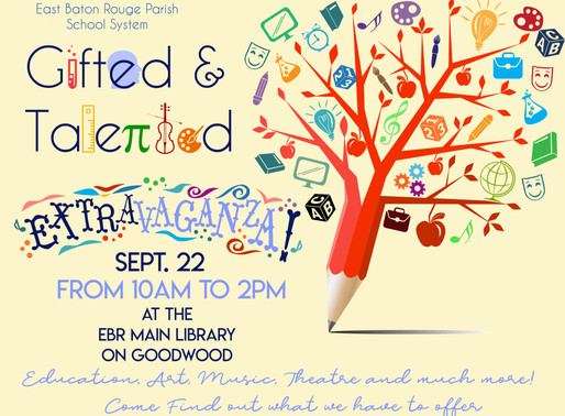 Gifted and Talented will hold their annual Extravaganza September 22nd