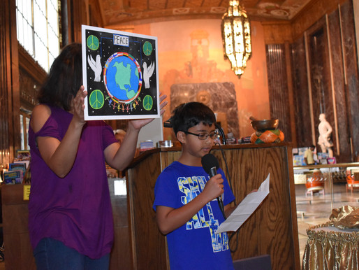 Buchanan Student's Artwork Chosen For World Peace Day Exhibit.