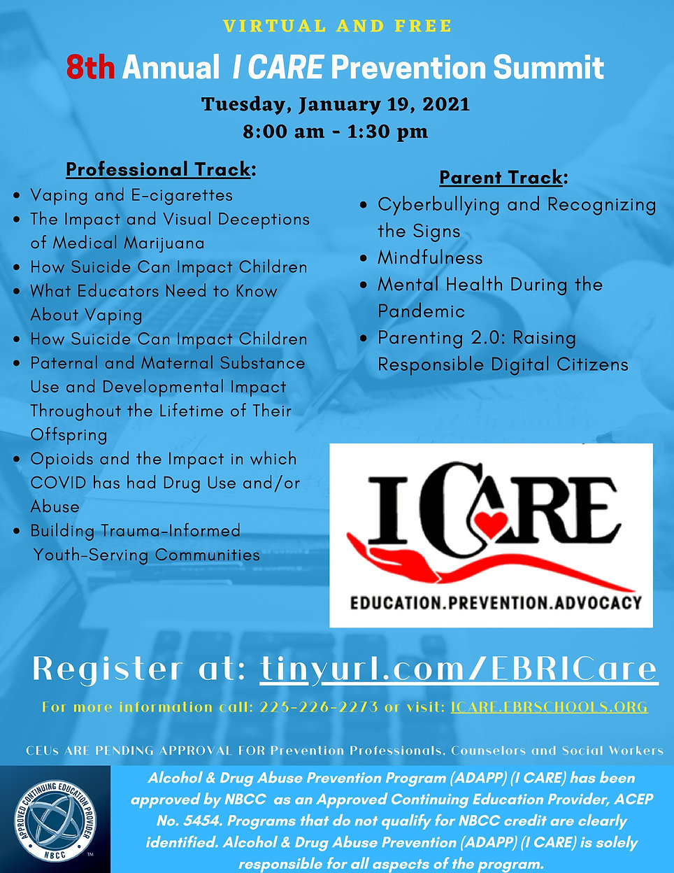 8th  Annual I CARE Pvenevtion Summit 202