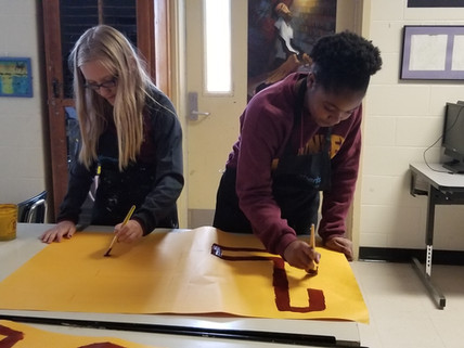MMAM Art club designs and creates a float for the Mid-city Mardi Gras parade