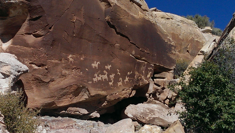 Rock Art near Moab, Utah