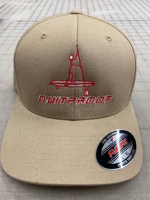 QuitProof Beige Hat