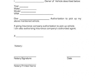Vehicle Release Form