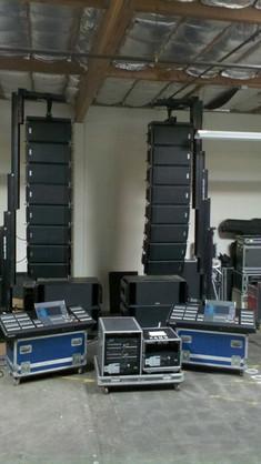 Test Setup in warehouse