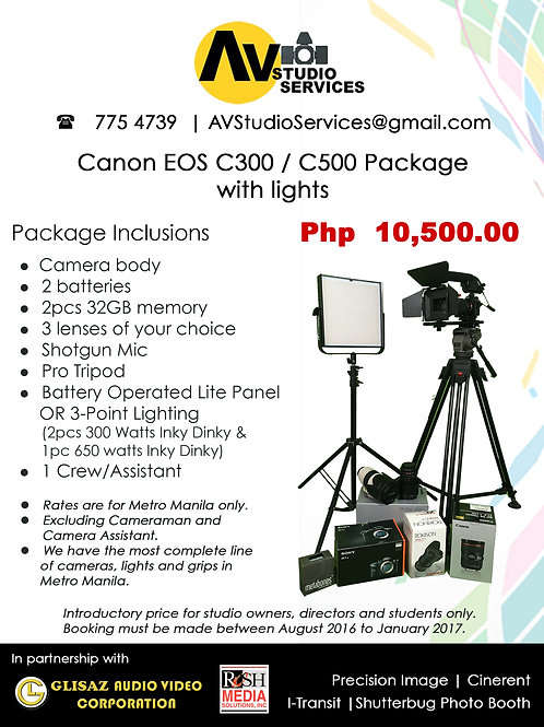 Canon EOS C300 / C500 Package