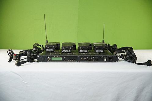 Telex BTR-700 - Single-Channel 4-User UHF Wireles (4set w/ headsets & beltpacks)