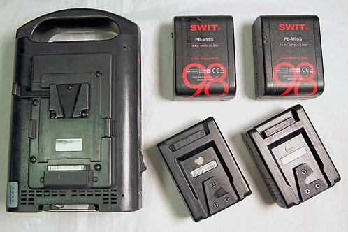 SWIT PB-M98S 14.4V 98Wh Pocket Battery 4pcs. with 1 charger