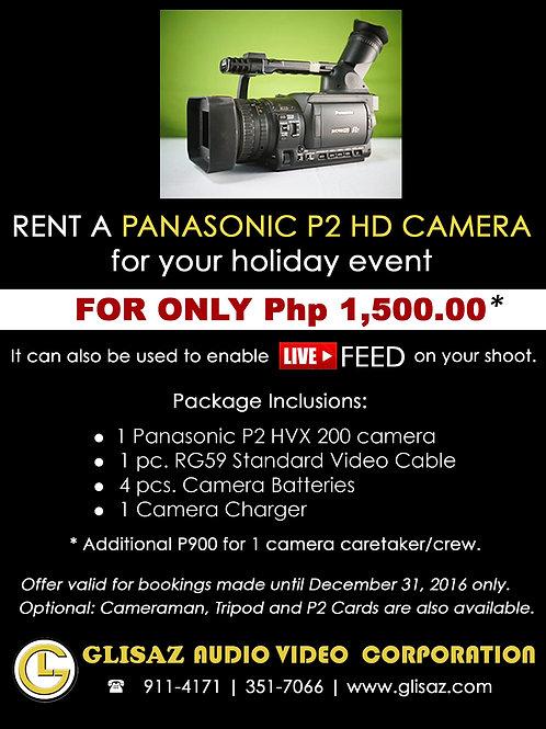 PANASONIC HVX200 (Camera only, no tripod)