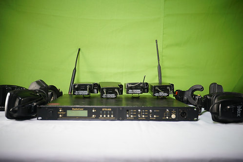 Telex BTR-800 2-Channel UHF Base Station (w/ 4 headset and beltpack)