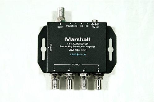 Marshall Electronics VDA-104-3GS  3G/HD/SD-SDI Reclocking Distribution Amplifier
