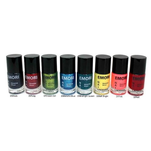 32 Vibrant Color Nail Lacquer Set   emoribeauty