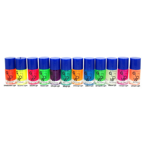 12 Glow In The Dark Nail Lacquer Set