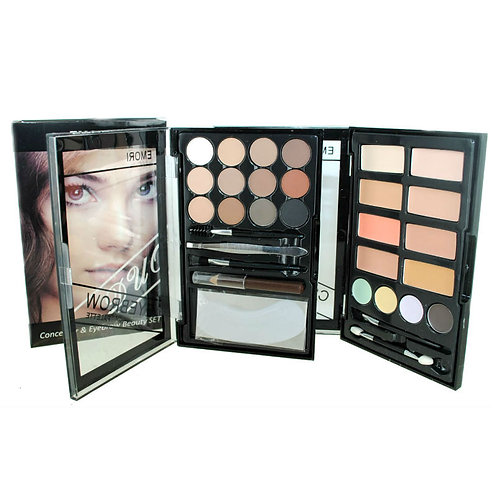 Concealer & Eyebrow Duo Makeup Beauty Box Kit (24 Colors)