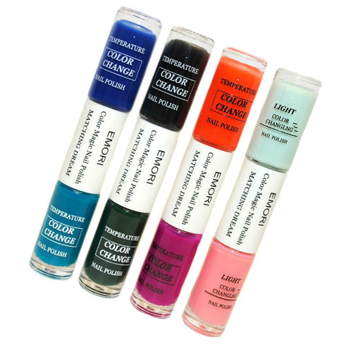 8 Color Changing Nail Polish In 4 Dual Side Stylish Tube