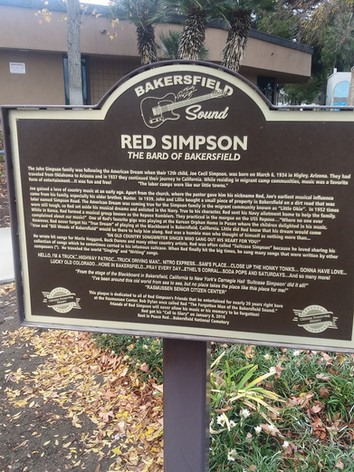 Red Simpson honored in Oildale