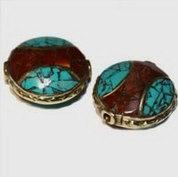 Tibetan Inlay Beads