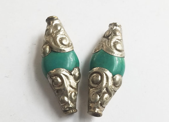 Turquoise Double Point Bead