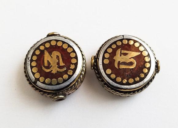 Tibetan OM bead