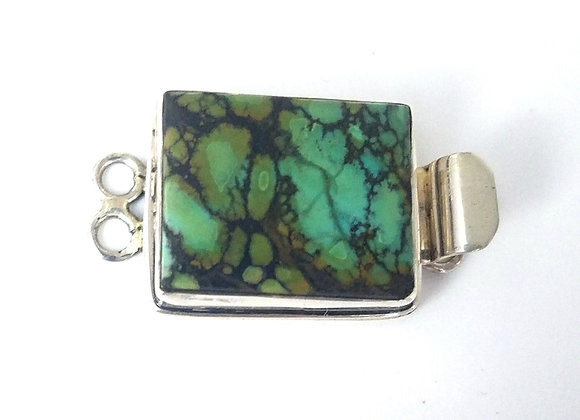 Two Strand green Turquoise Box Clasp