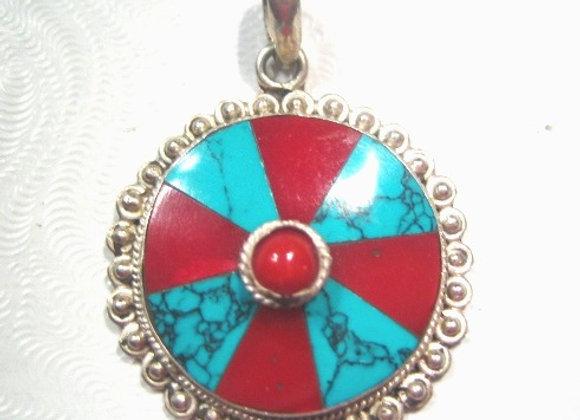 Sterling Silver Tibetan Pendant
