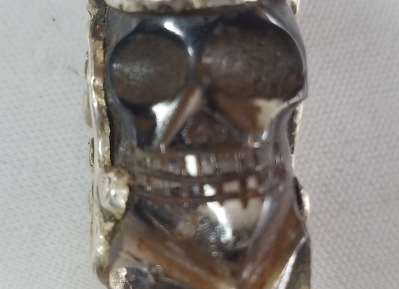 Tibetan Skull Quartz Pendant