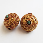 Tibetan Gold Wash Bead