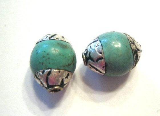 Tiny Turquoise Tibetan bead
