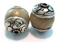 Tibetan Cream Jade Bead