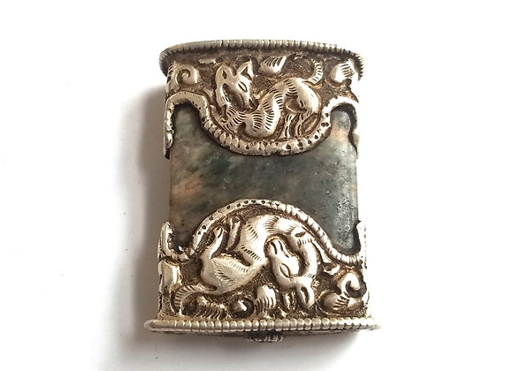 Large Silver Repousse Bead