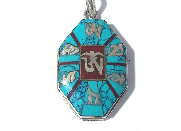 Sterling Silver Tibetan OM Pendant