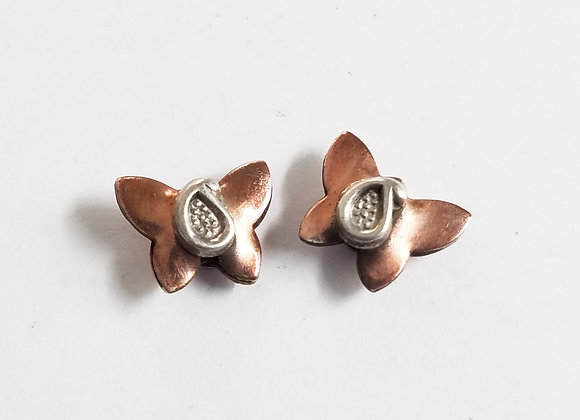 Set of 2 Little Copper Butterfly Beads