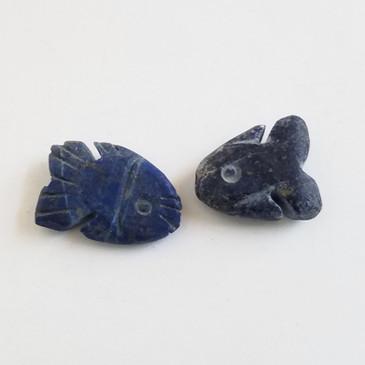 Carved Fish Lapis Bead