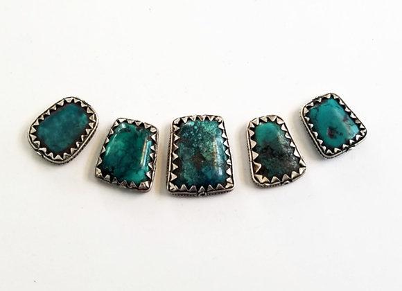 Set of 5 Tibetan Turquoise Beads