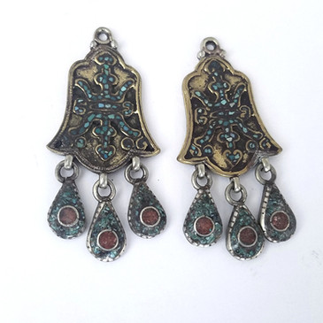 Tibetan Earring Components