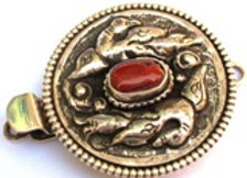 Tibetan Repousse Sterling Silver Box Style Clasp
