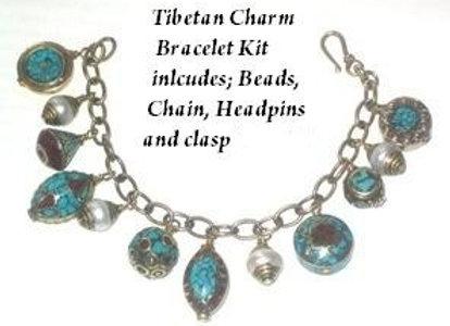 Tibet Bead Charm Bracelet Kit