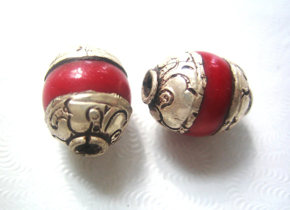 Small Red Coral Bead