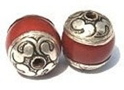 Red Capped Bead